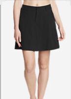 Eddie Bauer Woman's Active Skort Skirt Golf Black SIZE 10 Regular NWT $49