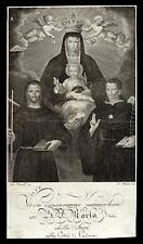 santino incisione 1800 B.VERGINE DELLA STUA-PADOVA