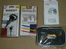 NINTENDO DS LITE PACK ACCESSOIRES NEUF! CONSOLE Crystal Case Casque Stylet