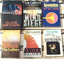 6 Tim LaHaye Books: Revelation, Anger, Depression, Temperament, Mind Siege, Arma