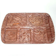 Chocolate Brown Speckle Melmac School Lunch Tray