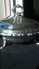 Vintage Eb Rogers silver plate casserole/vegetable server with lid.,