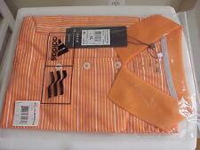 New ADIDAS MCL 2 Cir Stp S/S Polo Shirt (Orange/White) XL