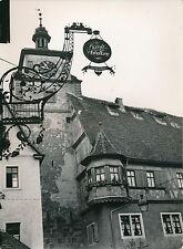 ALLEMAGNE c.1940 - Rue Calgengasse  Enseigne Horloge  Rothenburg  - DIV8382