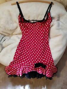 WHEELS AND DOLLBABY, GORGEOUS VINTAGE POLKA DOT WITH TULLE HEM DRESS  SIZE 2 / 8