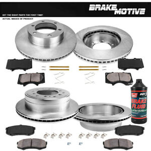 Front+Rear Rotors Ceramic Pads For 2001 2002 2003 2004 2005 2006 2007 Sequoia