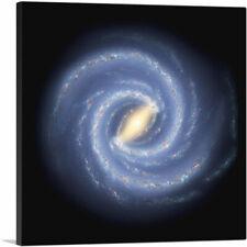 ARTCANVAS Symphony Spiral Galaxy in Blue Canvas Art Print