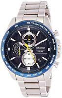 Seiko Men's 44mm Steel Hardlex Crystal Quartz Blue Dial Analog Watch SSB259P1