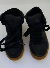 Levis Youth Boy's High Top Tennis Shoes Size 13 Black Color.