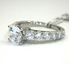 1.26ct Ladies 18k Gold Natural Si1 Graduating Diamond Semi Mount Ring