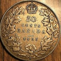 1903H CANADA SILVER 50 CENTS FIFTY CENTS COIN - Nicer example!