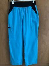 Cherokee Flexibles Mid Rise Knit Waist Pull On Scrub Pants Sz. Xs Turquoise