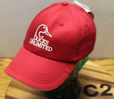 NWT 2014 DUCKS UNLIMITED ST. LOUIS CONVENTION HAT RED STRAPBACK EMBROIDERED C2
