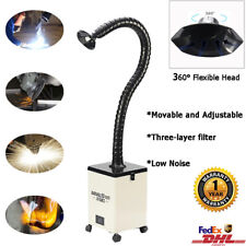 Welding Fume Extractor Portable Solder Smoke Absorber Air Cleaner 3-layer Filter