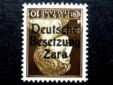 ITALIA REGNO OCCUPAZIONE ZARA 10 C  1943 MNH**  BESETZUAG CAPOVOLTO CV € 11.000