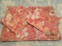 DORMA VINTAGE PINK FLORAL MIX SINGLE DUVET COVER AND 2 MATCHING PILLOWCASES