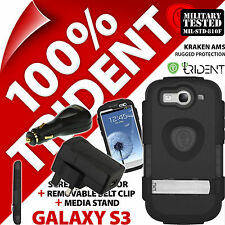 New Trident Kraken AMS Rugged Case for Samsung Galaxy S3 +Mains +USB Car Charger