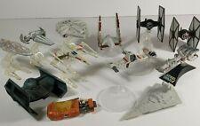 Lot of STAR WARS Die-Cast Metal Hot Wheels Vehicle Ships Spacecraft