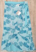 AMERICAN GLAMOUR BADGLEY MISCHKA GORGEOUS REVERSIBLE BEADED MAXI SKIRT LARGE NEW