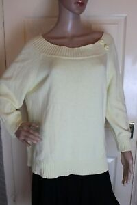 BHS Size 20 Yellow 100% Cotton thick long sleeve jumper