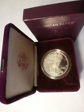 1986 AMERICAN EAGLE  *INAUGURAL YEAR* ~PROOF~ COIN 1oz. SILVER w/ COA, Case, Box