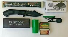 Knife Fire & Light Kit Emergency Survival Camping Doomsday Prepper Bug Out Bag