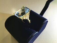 Swiss blue topaz ring, size 6 new with box