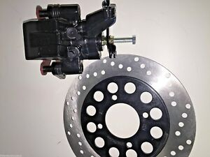 PGO BR250 BUGRIDER BUGGY REAR BRAKE CALIPER AND DISC SET 250cc ATV KART BUGGIES