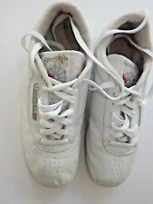 Reebok Classic Princess White Leather Shoe  Women's size 8 W