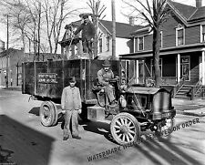 Photograph of a Gas Coke Coal Delivery Truck Detroit Michigan Year 1910  8x10