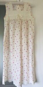 Womens Nightdress Cotton Floral Nightie 8-10
