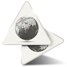 2 x Triangle Stickers 10 cm - Line Art Earth Globe Planet Space  #21582