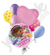 7 pc Doc McStuffins Happy Birthday Balloon Bouquet Party Decoration Disney
