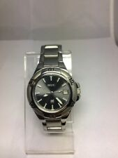 RELIC ZR11675 Men's Watch Date Grey Dial Silver Tone New Battery