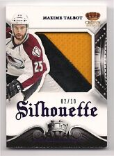 Maxime Talbot 13-14 Panini Crown Royale Silhouette Game Worn Jersey Patch /10