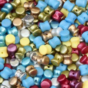 60 X Genuine PRECIOSA ORNELA Czech Glass Pellet Pressed Beads 5mm * Many Colors