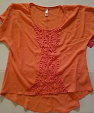 Xhileration Juniour Womens Shirt Size Med NWT Peach