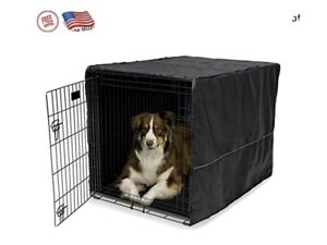 """42"""" Extra Large Breed Dog Crate Kennel Pet Wire Dogs Cage Huge Folding Cover NEW"""