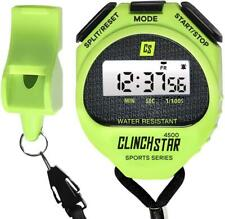 Stopwatch Digital Sports Timer and Whistle Set Waterproof for Swimming Marathon