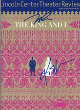 KELLI P'HARA & HOON LEE SIGNED 'THE KING AND I' BROADWAY PROGRAM MAGAZINE w/COA
