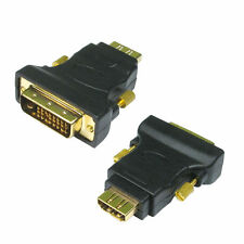 HDMI To DVI Adaptor DVI-D Digital Monitor Cable Lead Converter GOLD