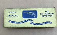 "Smith & Wesson 357 Magnum Pre-27 5"" Nickel Blue Gold Box"