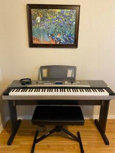 Yamaha Keyboard 88 keys, pedal, bench, manual, & head phones included