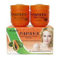 FEIQUE PAPAYA whitening cream anti freckle nourishing skin 2 in 1 (20g x 2Jars)