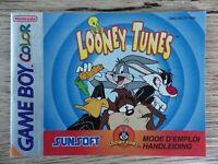 Notice seul Nintendo Game boy color LOONEY TUNES livret instruction FR