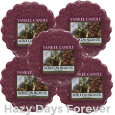 5 YANKEE CANDLE WAX TARTS Moroccan Argan Oil BUY ANY 2 SAVE 20%