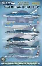 Fightertown 1/48 decal F/A-18C EA-18G EA-6B MH-60R Navair Centennial Tri-Tone Tr