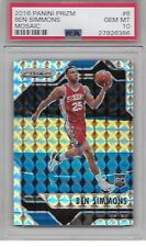 2016 Prizm Mosaic BEN SIMMONS Silver Refractor Psa 10 Gem Mint Buy It Now Steal