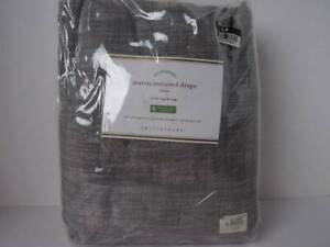 "Pottery Barn (1) Seaton Textured Cotton Rod Pocket Curtain 50""x 96""~Gray, Nwt..."
