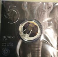 "Süd Afrika 5 Rand 2019 ""Elephant"" ""The Big Five"" F#4008 Coloured extra rare"